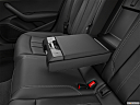2020 Audi A4 Premium Plus 45 TFSI, rear center console with closed lid from driver's side looking down.