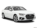 2020 Audi A4 Premium Plus 45 TFSI, front passenger 3/4 w/ wheels turned.