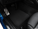 2020 BMW 2-series M240i, driver's floor mat and pedals. mid-seat level from outside looking in.