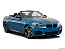 2020 BMW 2-series M240i, front passenger 3/4 w/ wheels turned.