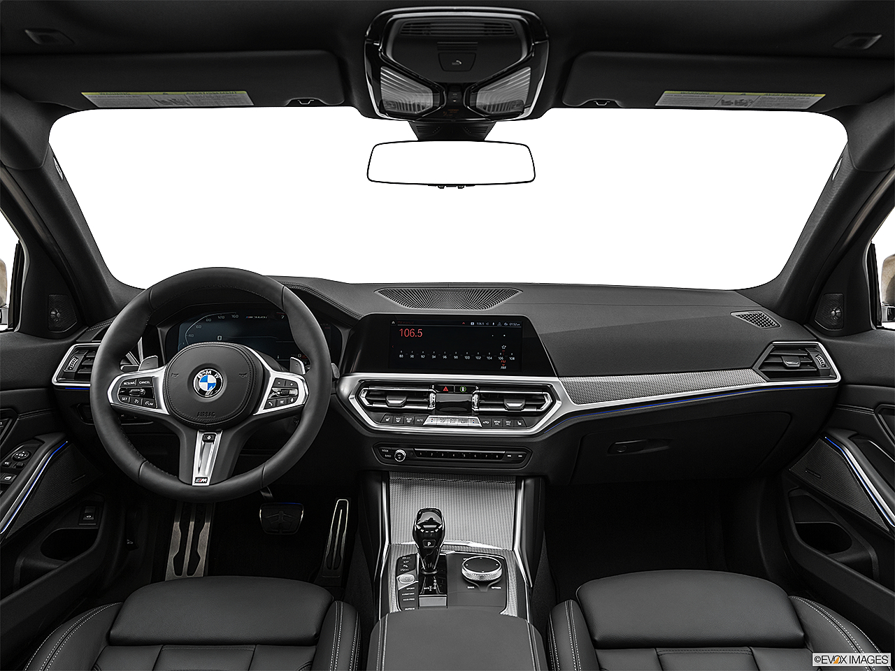 2020 BMW 3-series M340i, centered wide dash shot