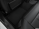 2020 BMW 3-series M340i, rear driver's side floor mat. mid-seat level from outside looking in.