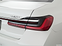2020 BMW 7-series 740i, passenger side taillight.