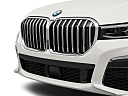 2020 BMW 7-series 740i, close up of grill.