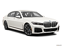 2020 BMW 7-series 740i, front passenger 3/4 w/ wheels turned.