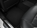 2020 BMW 7-series 750i xDrive, rear driver's side floor mat. mid-seat level from outside looking in.