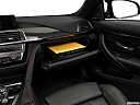 2020 BMW 4-series M4, glove box open.