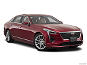 2020 Cadillac CT6 Luxury, front passenger 3/4 w/ wheels turned.
