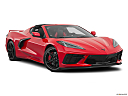2020 Chevrolet Corvette Stingray 3LT, front passenger 3/4 w/ wheels turned.