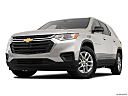 2020 Chevrolet Traverse LS, front angle view, low wide perspective.