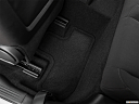 2020 Dodge Challenger R/T, rear driver's side floor mat. mid-seat level from outside looking in.