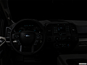 "2020 Ford F-150 XL, centered wide dash shot - ""night"" shot."