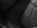 2020 Ford F-150 XLT, rear driver's side floor mat. mid-seat level from outside looking in.