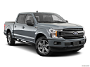 2020 Ford F-150 XLT, front passenger 3/4 w/ wheels turned.