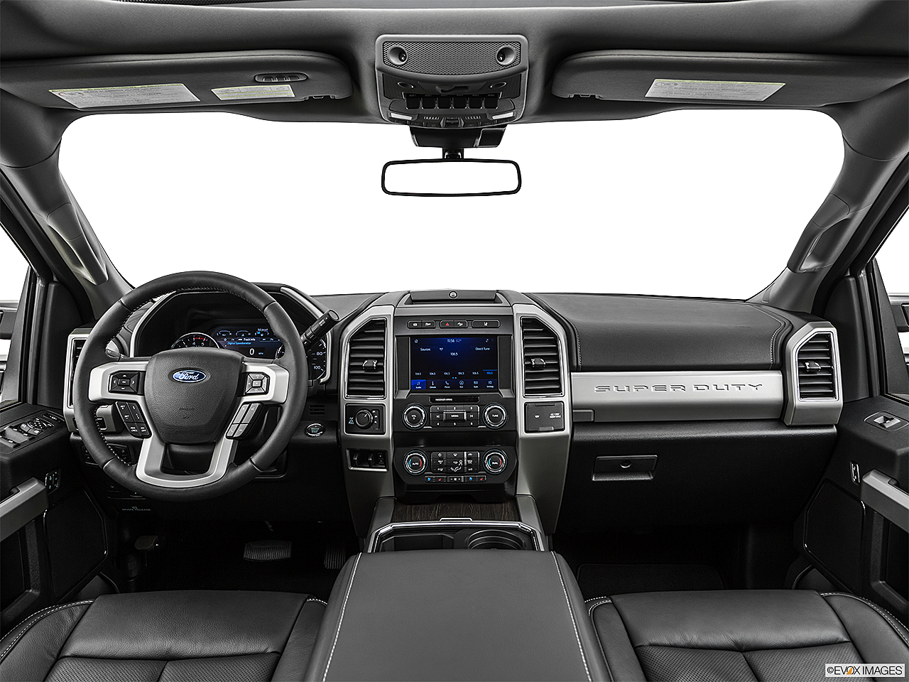 2020 Ford F-250 SD Lariat, centered wide dash shot