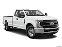 2020 Ford F-250 SD XL, front passenger 3/4 w/ wheels turned.