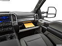 2020 Ford F-350 SD XLT, glove box open.
