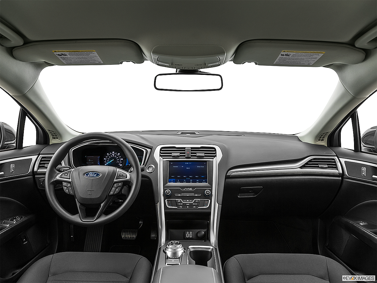 2020 Ford Fusion Hybrid SE, centered wide dash shot