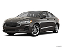 2020 Ford Fusion Hybrid SE, front angle medium view.