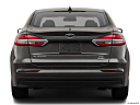 2020 Ford Fusion Hybrid SE, low/wide rear.