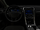 "2020 Ford Fusion Hybrid SE, centered wide dash shot - ""night"" shot."