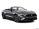 2020 Ford Mustang ECOBOOST, front passenger 3/4 w/ wheels turned.