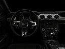 "2020 Ford Mustang GT, centered wide dash shot - ""night"" shot."