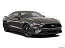 2020 Ford Mustang GT, front passenger 3/4 w/ wheels turned.