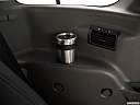 2020 Ford Transit Connect Wagon Extended XLT, third row side cup holder with coffee prop.
