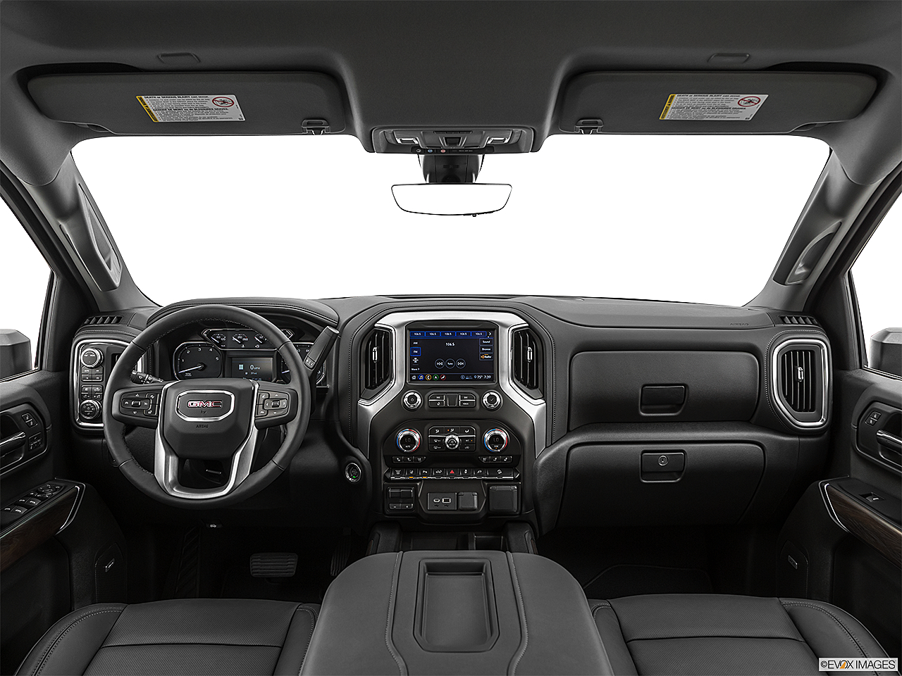 2020 GMC Sierra 2500HD SLT, centered wide dash shot