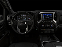 "2020 GMC Sierra 2500HD SLT, centered wide dash shot - ""night"" shot."