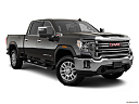 2020 GMC Sierra 2500HD SLT, front passenger 3/4 w/ wheels turned.