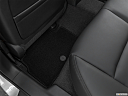 2020 Infiniti Q50 3.0t LUXE, rear driver's side floor mat. mid-seat level from outside looking in.