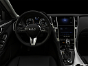 "2020 Infiniti Q50 3.0t LUXE, centered wide dash shot - ""night"" shot."