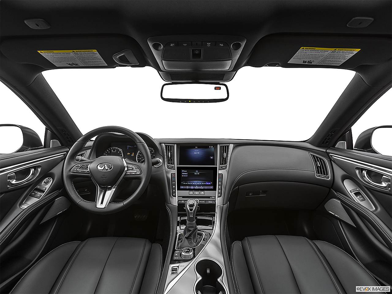 2020 Infiniti Q60 3.0t LUXE, centered wide dash shot