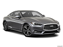 2020 Infiniti Q60 3.0t LUXE, front passenger 3/4 w/ wheels turned.