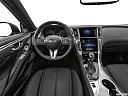 2020 Infiniti Q60 3.0t LUXE, steering wheel/center console.