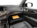 2020 Infiniti QX60 Luxe, glove box open.