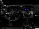 "2020 Infiniti QX60 Luxe, centered wide dash shot - ""night"" shot."