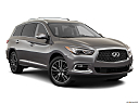 2020 Infiniti QX60 Luxe, front passenger 3/4 w/ wheels turned.