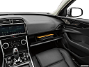 2020 Jaguar XE S, glove box open.