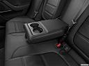 2020 Jaguar XE S, rear center console with closed lid from driver's side looking down.