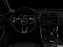 "2020 Jaguar XE S, centered wide dash shot - ""night"" shot."