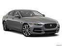 2020 Jaguar XE S, front passenger 3/4 w/ wheels turned.