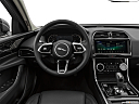 2020 Jaguar XE S, steering wheel/center console.