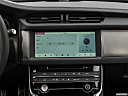 2020 Jaguar XF 30t Prestige, closeup of radio head unit
