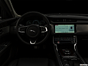 "2020 Jaguar XF 30t Prestige, centered wide dash shot - ""night"" shot."