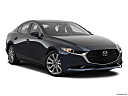 2020 Mazda MAZDA3 w/ Preferred Package, front passenger 3/4 w/ wheels turned.