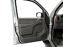 2020 Nissan Frontier SV, inside of driver's side open door, window open.