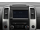 2020 Nissan Frontier SV, closeup of radio head unit